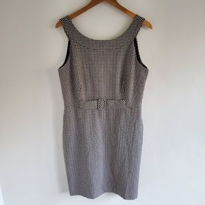 Calvin Klein Gingham Sheath Dress Size 12